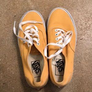Mustard yellow vans size 6!